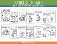 Etsy Articles of Faith Coloring Page