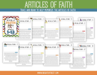 Etsy Articles of Faith Trace and Draw