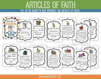 Etsy Articles of Faith Fill in the Blank