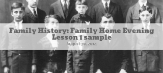 Family History FHE Lesson 2
