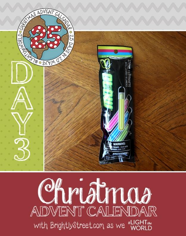 Christmas Advent Calendar Day 3 Glow Sticks