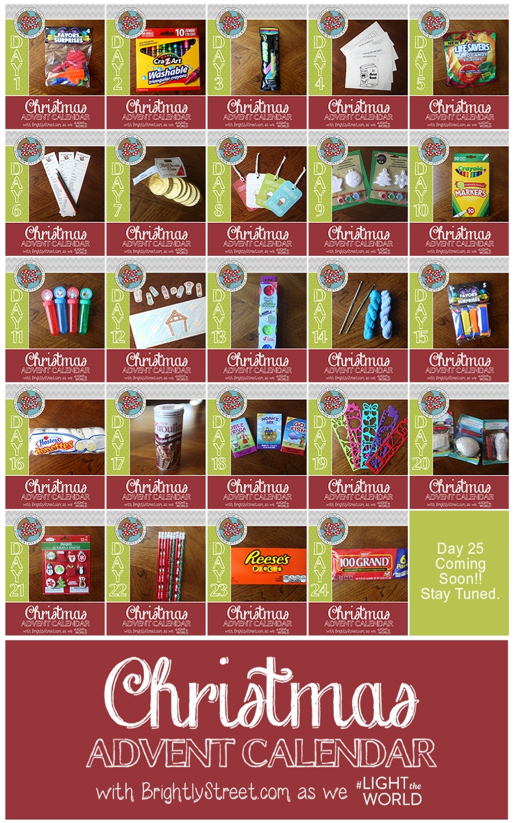 Christmas Advent Calendar Pocket Treats on Door
