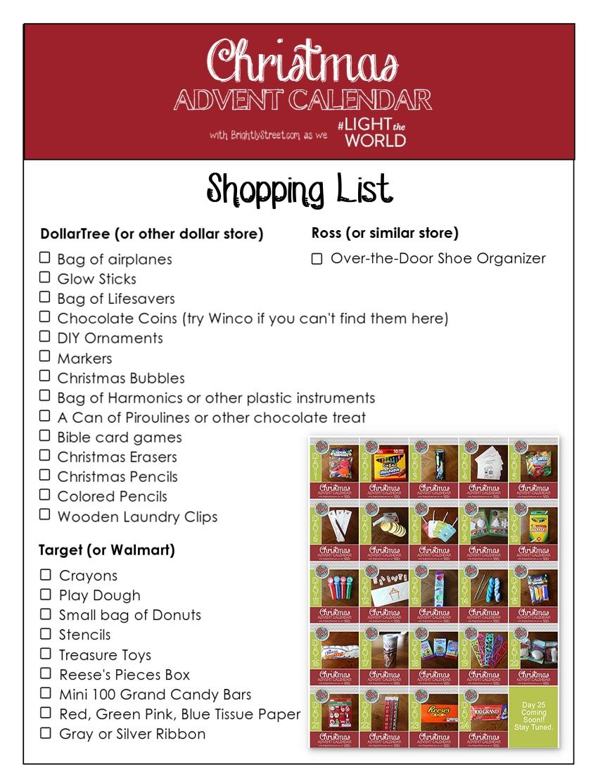 Christmas Advent Calendar 25 Days in 25 Ways #LIGHTtheWORLD Step 2 ...