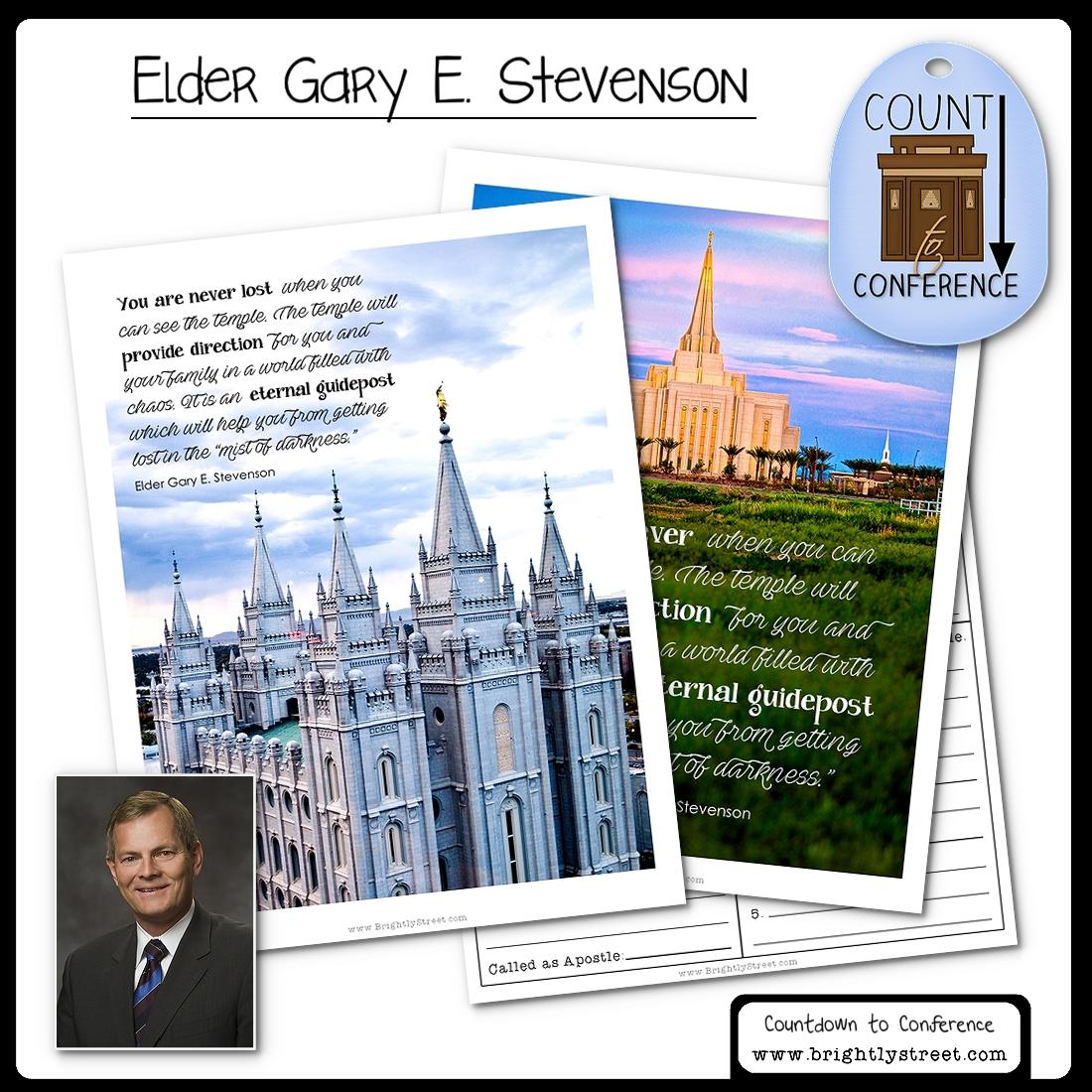 General Conference Elder Gary E. Stevenson
