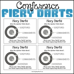 General Conference Ideas Fiery Darts Game