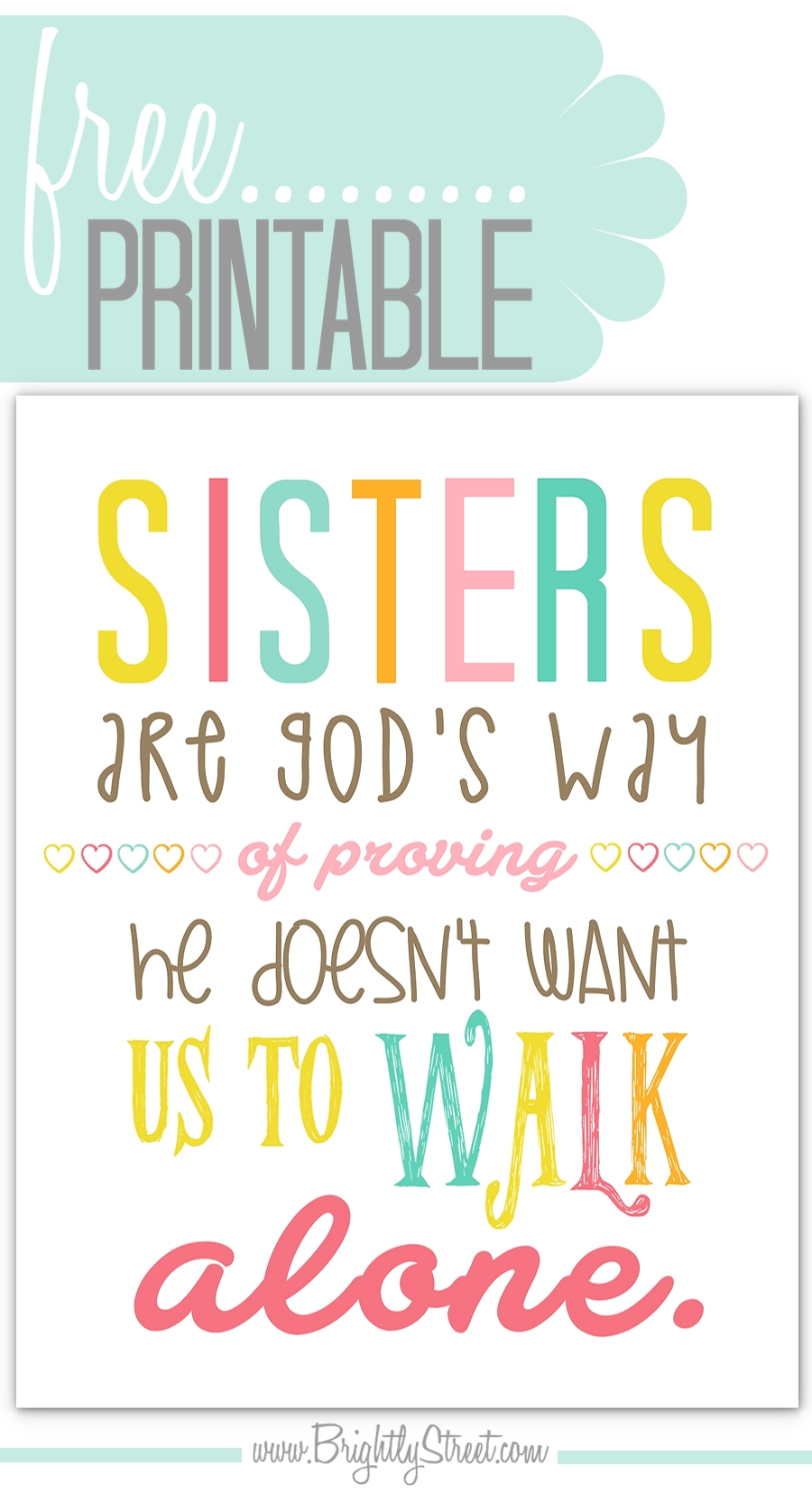 Sister Quote Printable