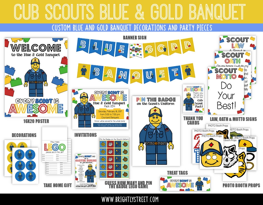 Cub Scouts Blue and Gold Banquet Lego Theme